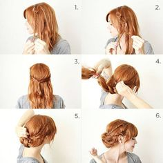 Easy up-do hair.