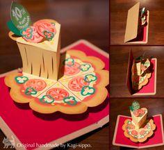 pop-up card [Pizza]  original handmade by Kagisippo. ------------------------ [Youtube]  https://www.youtube.com/watch?v=cuzk0VhXGAc