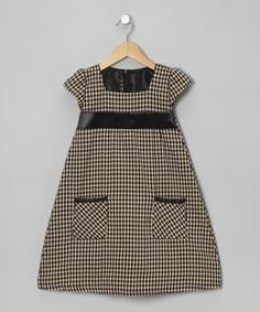 Take a look at this Soft Black Gingham Pocket Dress - Infant, Toddler & Girls by Bella's Boutique on #zulily today!