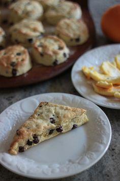 orange chocolate chip scones from @Brandi