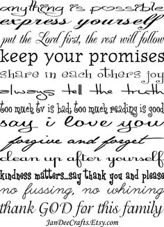 Keep your promises...