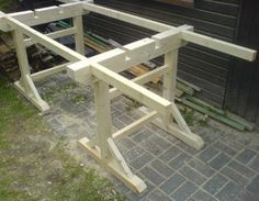 Workhorse building instructions to build yourself Home improvement forum … – Table Ideas Woodworking Guide, Custom Woodworking, Woodworking Projects Plans, Woodworking Bench, Quilting Frames, Homemade Tools, Wood Tools, Construction, Picnic Table
