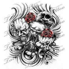 Tattoo Tattoo Ideas Laugh Now Cry Later Tattoo Art Drawings Tattoos Tatuajes Tattoos, Chicano Tattoos, Skull Tattoos, Body Art Tattoos, Sleeve Tattoos, Tattoo Sketches, Tattoo Drawings, Tattoo Art, Art Drawings