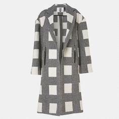 Justyna Chrabelska Top Shop Unique Herringbone Cube Coat