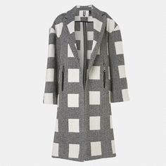 Justyna Chrabelska Top Shop Unique Herringbone Cube Coat