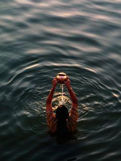 Ganga River - Morning Puja in Varanasi, India.