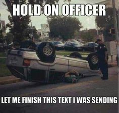 Texting while driving can be VERY dangerous! #texting #driving #humor