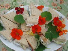 Nasturium sandwiches
