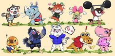 Animal Crossing Funny, Animal Crossing Characters, Animal Crossing Villagers, Cute Comics, Funny Comics, Nintendo, Animal Games, Cute Animals, Fan Art