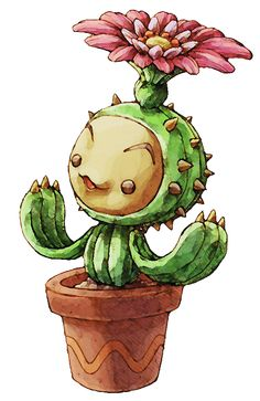 Lil Cactus from Legend of Mana <3