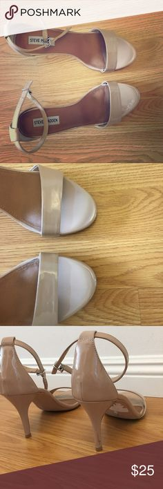 Steve Madden 3 Inch heels Nude patent leather Steve Madden Shoes Heels