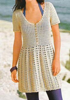 vestido juvenil crochet alta costura - Buscar con Google