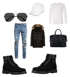 """""""Untitled #15"""" by tomasi-nasau on Polyvore featuring Lugz, EyeBuyDirect.com, JayWalker, Canada Goose, Louis Vuitton, AMIRI, men's fashion and menswear"""