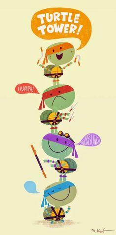 Artist Matt Kaufenberg added his own artistic twist to his Ninja Turtles art. Click to view them all. #TMNT #NinjaTurtles #TeenageMutantNinjaTurtles #FanArt