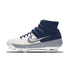 Nike Alpha Huarache Elite 2 Mid MCS By You Custom Baseball Boot. Nike CA Custom Baseball Cleats, Baseball Gear, Air Max Sneakers, Sneakers Nike, Huaraches, Nike Air Max, Air Jordans, Bike, Softball