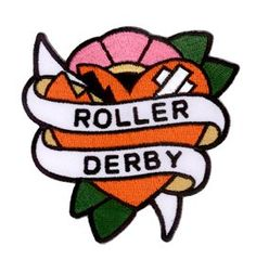 """Adam Potts - Broken Heart Roller Derby Gal Top Quality Patch - 3.5"""" x 3.5"""" - brodé pièce Embroidered Patch"""