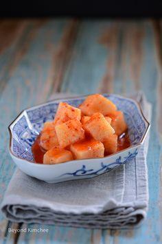 How to make radish kimchi, kkakdugi (깍두기)