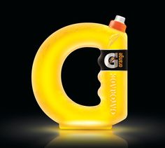 Designed by Cadú Gomes | Country: United Kingdom  This is an interesting concept from British designer Cadú Gomes exploring unique structural design. By incorporating Gatorade's identity into the bottle, this packaging takes brand recognition to a whole other level.