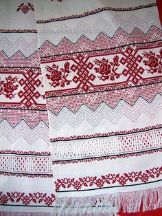 Ukrainian embroidered linen rushnik towel by UKREmbroidery on Etsy, $135.00