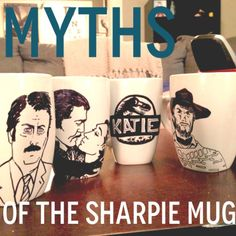 Sharpie mugs. Important tips if you want to try this craft | NOTE: Using clear nail polish over regular sharpie made the sharpie smear