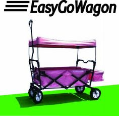 Pink EasyGoWagon Brand – Folding Utility Wagon « Game Time Home Folding Wagon, Kids Wagon, Shade Structure, Baby Strollers, Amazon, Cool Stuff, Toys, Baby Cakes, Pink