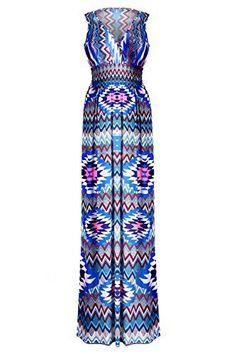 G2 Chic Women's Summer Tribal Printed Maxi Dress