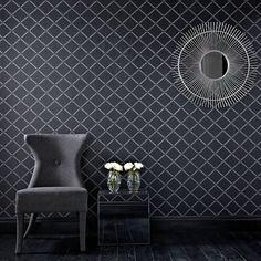 Quantum Black and Silver Wallpaper