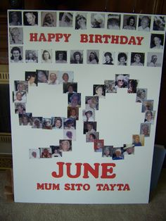 Just Finished This Picture Board For My Mothers 90th Birthday Party Thanks To Julia Ferguson