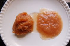 Fermented Apple Sauce (Left is a Raw Recipe, right is a cooked recipe)