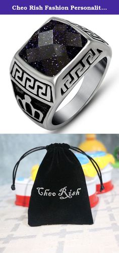 Cheo Rish Fashion Personality Blue Sandstone Titanium steel Couple rings. Treatment Process Material Selectionenr All the product of Cheo Rish were made in environmental Alloy,Titanium steel and High Grade diamond, The cost is three times higher than normal material.Quality is the most important things to us. Electric Plated Products Surface with advanced electroplate craft processing, even color, attached close, corrosion resistance, excellent smooth. Electroplating thickness is five…