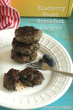 Blueberry Bacon Breakfast Burgers {AIP, Paleo, Whole 30} - Adventures In Partaking