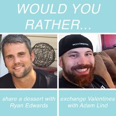 Would You Rather Reality TV Questions In Honor Of Valentine's Day Ryan Edwards, Reality Tv Stars, Would You Rather, Valentines, This Or That Questions, Day, Valentine's Day Diy, Valentines Day, Valentine's Day