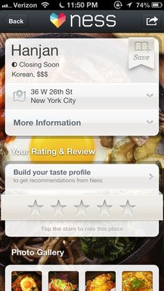 Ness - Restaurant Recommendations