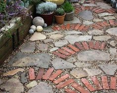 stone and brick path