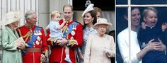 Prince George watches Kate Middleton and Prince William for Trooping the Colour