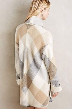 Plaid Blanket Coat -