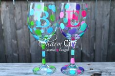 Personalized Wine Glasses with Initial 20 oz by ahindle78 on Etsy https://www.etsy.com/listing/164095858/personalized-wine-glasses-with-initial