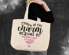 Tenderness of Heart Jane Austen Tote Bag