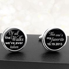 Custom Cuff Links - Personalized Wedding Groom\'s Gift Best Man\'s ...