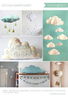 Cute cloud nursery design concept from Itty Bitty & Bijou