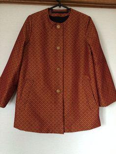 ミャンマーのシルクで作ったジャケット