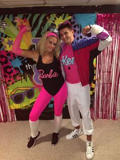 Barbie and Ken workout costume