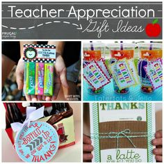 Easy and Creative Teacher Appreciation Gift Ideas - Thanks a Lattee, EXTRAordinary Bag Topper, Bottle Gift Tag and more! Teach Appreciation Week Ideas on Frugal Coupon Living. Find more Teacher Appreciation Ideas on the post!