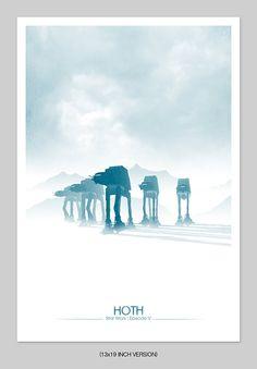 Frozen March Print von DirtyGreatPixelsUK auf Etsy, £10.00