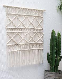 Large Macrame Wall Hanging / Modern Macrame / Dip by TeddyandWool