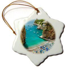 Danita Delimont - Beaches - Beach in the rocky coastline of Amalfi near Praiano, Campania, Italy. - 3 inch Snowflake Porcelain Ornament (orn_209366_1) 3dRose http://www.amazon.com/dp/B00USWGRBQ/ref=cm_sw_r_pi_dp_4iVmwb0ESSEDG