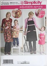 Misses/Childs ADJUSTABLE APRONS Simplicity Pattern 2555 NEW Size both S-M-L