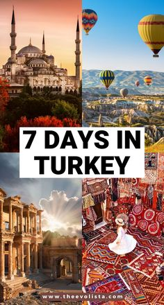 The Ultimate 7 Days in Turkey Itinerary You Should Copy - - This 7 Day Turkey Itinerary includes everything you would want to do from Istanbul, to hot air ballooning in Cappadocia to the stunning Turkish Riviera. Backpacking Europe, Europe Travel Guide, Asia Travel, Turkey Vacation, Turkey Travel, Trip To Turkey, Turkey Europe, Pamukkale, Cool Places To Visit