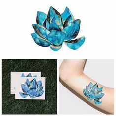 Description payment terms shipping terms description blue watercolor lotus flower temporary tattoo waterproof stickers art women diy created by laqapp.included in the package:quantity: 2 in a set instruction card.product highlights:each pack contains 2 tattoos.includes tattoo application instructions lasts anywhere from 2- 5 days we use fda approved ink made in usa / lasafe to use and chemical freeno special tools requirednon-toxic and 100% vegando not apply to sensitive skin, near eyes ...