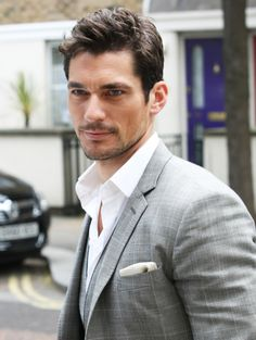 David Gandy: Perfectly crisp #white #shirt and great #hair